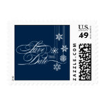 Hanging Snowflakes Save The Date Postage Postage Stamp