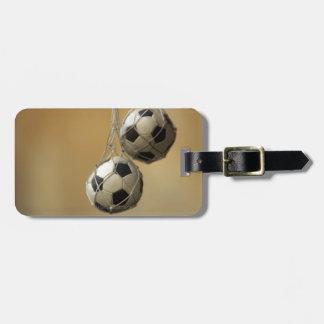 Hanging Soccer Balls Luggage Tag