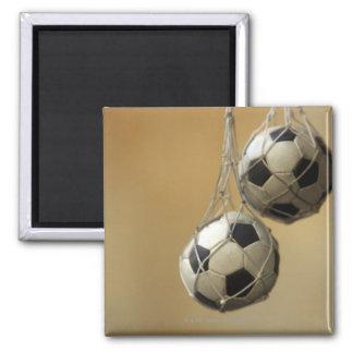 Hanging Soccer Balls Refrigerator Magnet