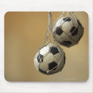Hanging Soccer Balls Mouse Pad