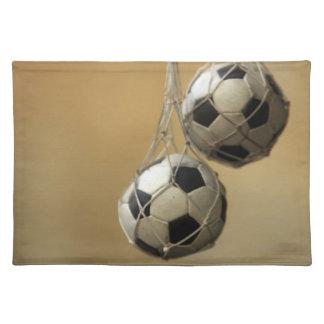 Hanging Soccer Balls Place Mat