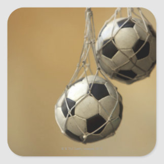 Hanging Soccer Balls Square Sticker
