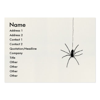 Hanging Spider Business Cards