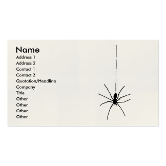 Hanging Spider Business Card Templates