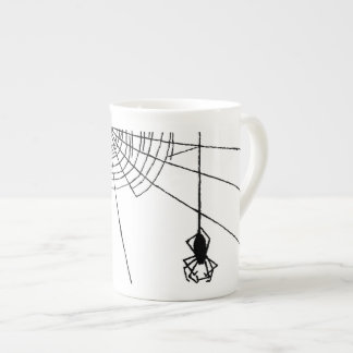 Hanging Spider in a web Gothic Halloween Tea Cup