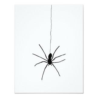 Hanging Spider 4.25x5.5 Paper Invitation Card