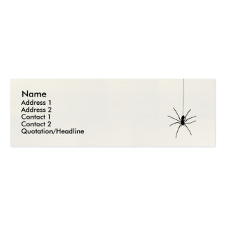 Hanging Spider Mini Business Card