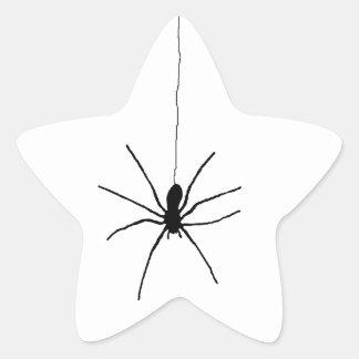 Hanging Spider Star Sticker