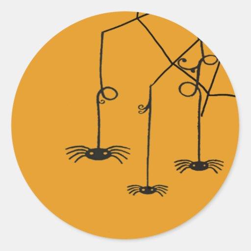 hanging spiders classic round sticker