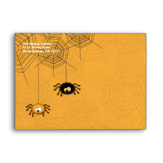Hanging Spiders Halloween Envelopes
