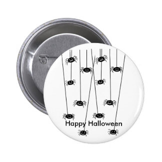 Hanging Spiders, Happy Halloween  . Button