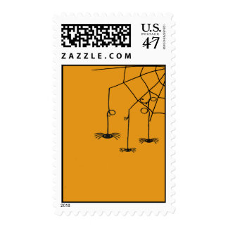 hanging spiders postage stamp