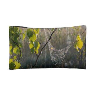 Hanging spiderwebs makeup bag