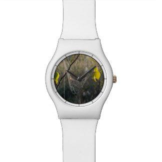 Hanging spiderwebs wrist watch