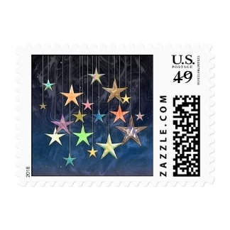 HANGING STARS POSTAGE STAMPS