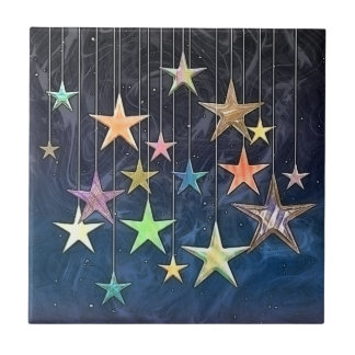 HANGING STARS SMALL SQUARE TILE