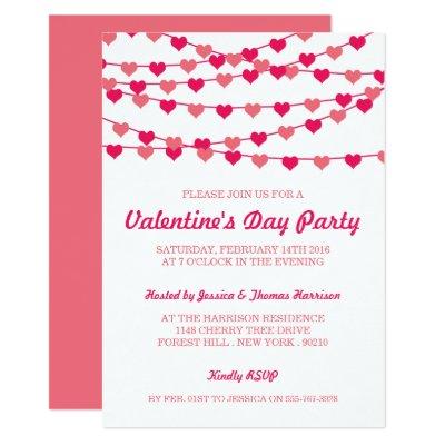Valentines Day Party Invitation Flat Card Zazzlecom