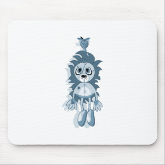 Hanging Teddy Blue Mouse Pad