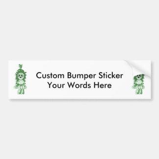 Hanging Teddy Green Car Bumper Sticker