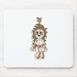 Hanging Teddy Orange Sepia Mouse Pad