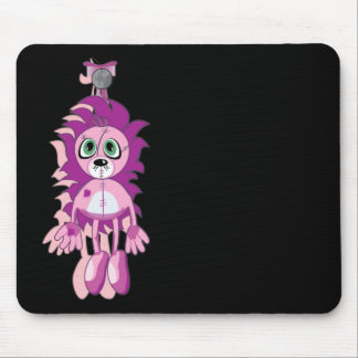 Hanging Teddy Original Pink Mouse Pad