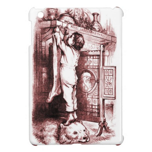Hanging up the Christmas stocking iPad Mini Cases