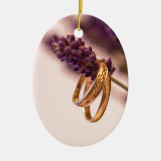 Hanging Wedding Bands Ceramic Ornament