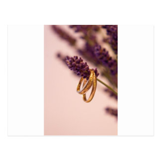 Hanging Wedding Bands Postcard