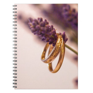 Hanging Wedding Bands Spiral Notebook