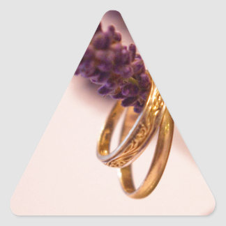 Hanging Wedding Bands Triangle Sticker