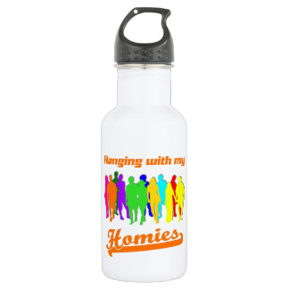 Hanging with my Homies 18oz Water Bottle