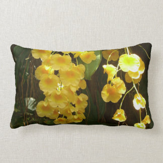 Hanging Yellow Orchids Pillow
