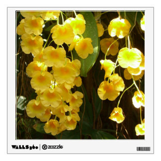 Hanging Yellow Orchids Square Wall Decal