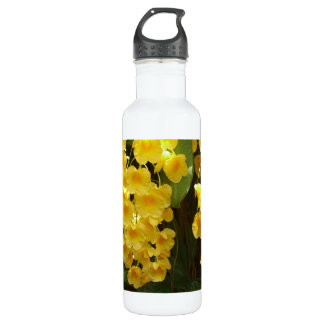 Hanging Yellow Orchids Tropical Flowers 24oz Water Bottle