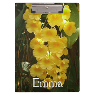 Hanging Yellow Orchids Tropical Flowers Clipboards