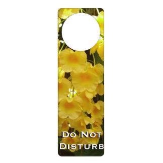 Hanging Yellow Orchids Tropical Flowers Door Hanger