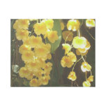 Hanging Yellow Orchids Tropical Flowers Gallery Wrap