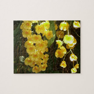 Hanging Yellow Orchids Tropical Flowers Jigsaw Puzzles