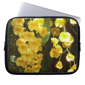 Hanging Yellow Orchids Tropical Flowers Laptop Computer Sleeves