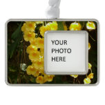 Hanging Yellow Orchids Tropical Flowers Ornament