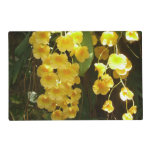 Hanging Yellow Orchids Tropical Flowers Placemat