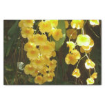 Hanging Yellow Orchids Tropical Flowers Tissue Paper