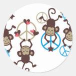 HangingMonkey15 Classic Round Sticker