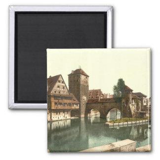 Hangman Bridge, Nuremberg, Bavaria, Germany Fridge Magnets