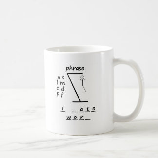 Hangman I hate work Coffee Mugs