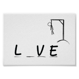 Hangman with LVE Poster