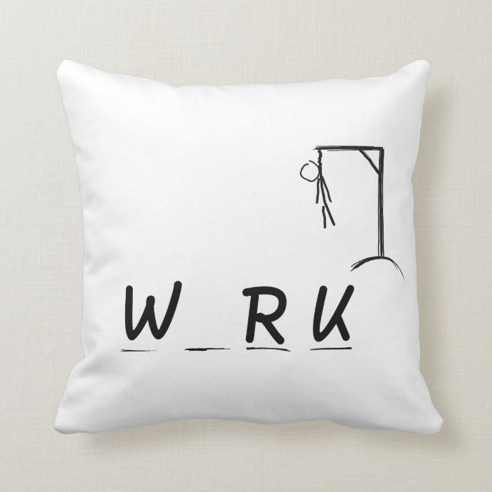 Hangman with WRK Throw Pillow