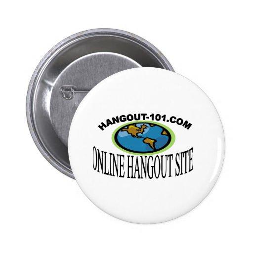 Hangout-101.com Pin Redondo De 2 Pulgadas