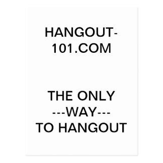 Hangout-101.com Postcard