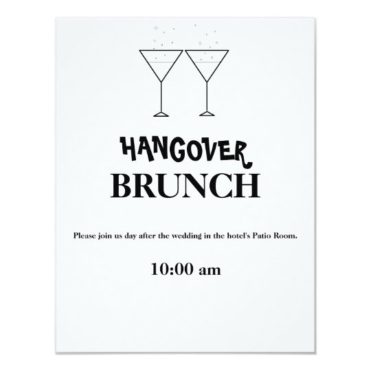 hangover brunch invitations zazzle com
